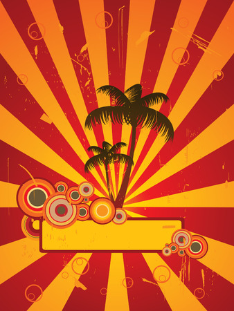 Beach party flier Illustration