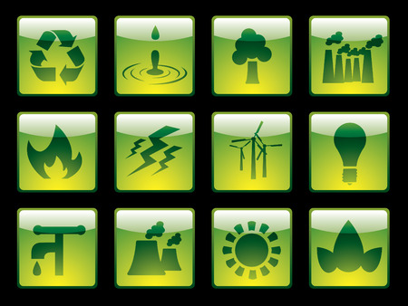 Ecology buttons from series Vector