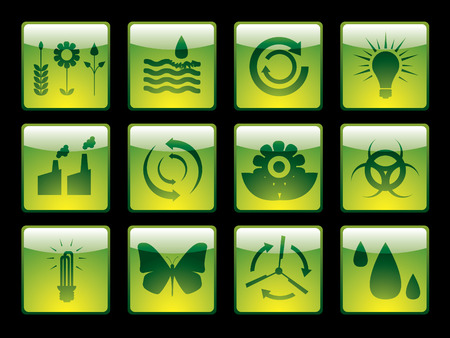 ozone: Ecology buttons from series