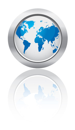 vector maps: Business globe button