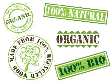 Organic ecology stamps Stock Vector - 4692720