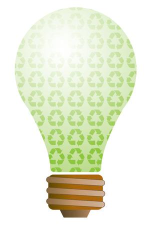 Ecology lightbulb Vector
