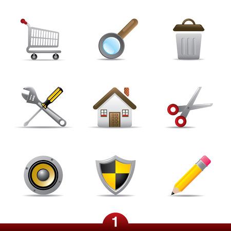 보편적 인: Icon series - web universal 일러스트