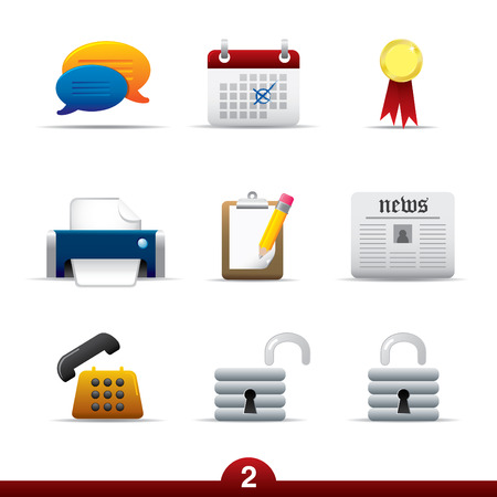 Icon series - web universal Illustration