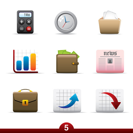 Icon series - business Vector