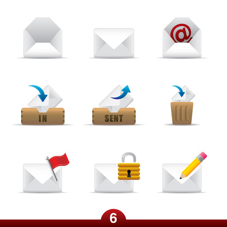 dentro fuera: Icono de serie - mail