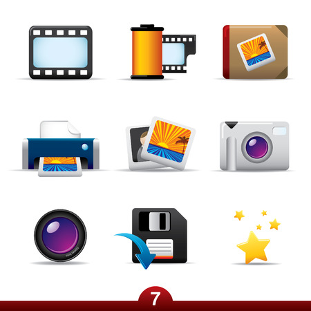 Icon series - photography Vector