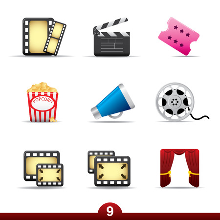 Icon series - movie and film Vector