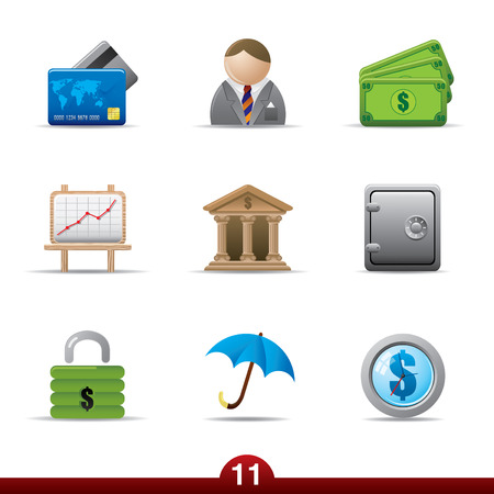 Icon series - finance Vector