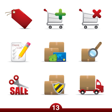 Icon series - shopping Vector