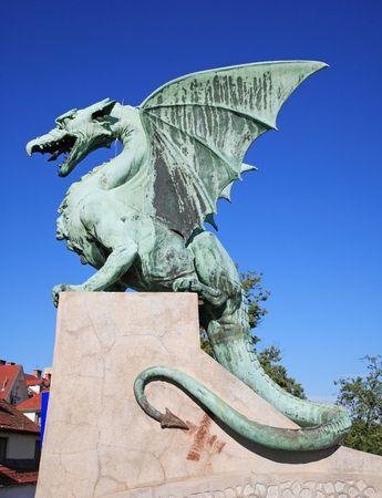 talons: Dragons bridge..Ljubljana Stock Photo