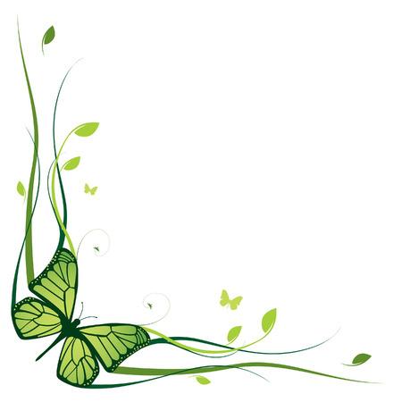 animal frames: Elegant floral border