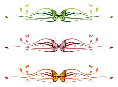 bordure floral: Fronti�re floral �l�gant