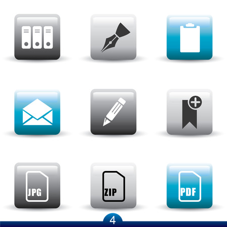 Icon series 4 - files and documents Vector