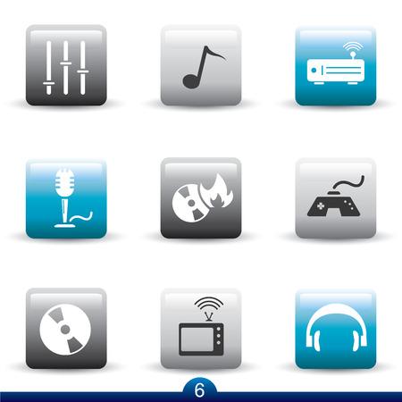 Icon series 6 - entertainment Vector
