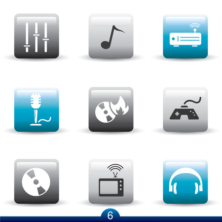 playstation: Icon series 6 - entertainment