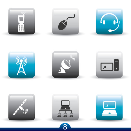 Icon series 8 - communication Vector