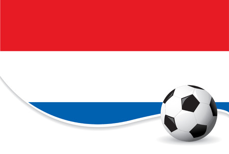 Holland football world cup background Vector
