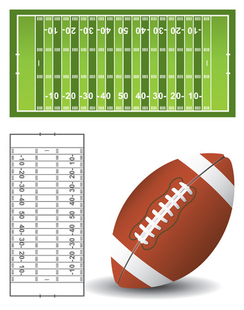 football pitch: American football pitch and ball