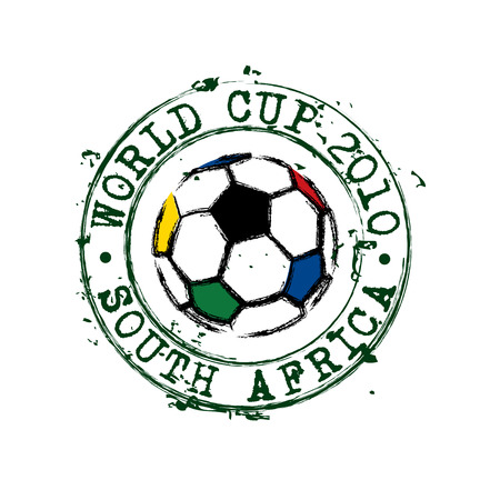 World cup football stamp Vector