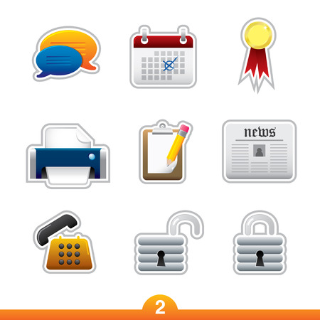 Icon sticker series 2 - web universal Vector