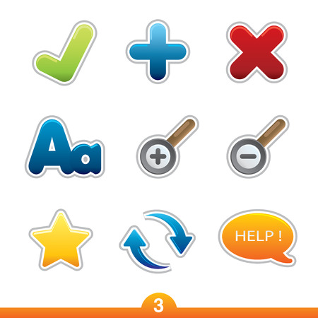 Icon sticker series 3 - web universal Stock Vector - 6474963
