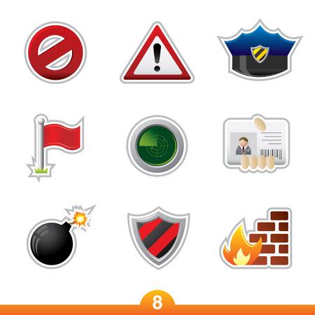no pase: Icono de pegatina serie 8 - seguridad  Vectores