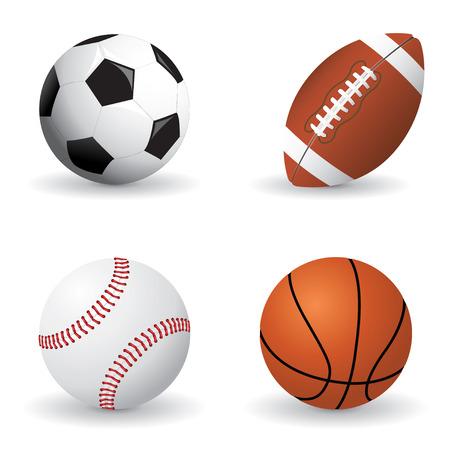 Conjunto de bola de deportes