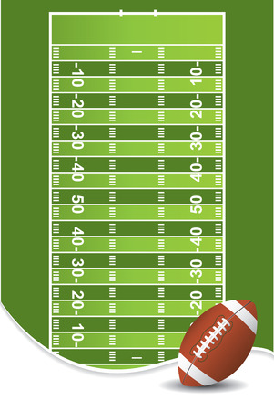 American football background Stock Vector - 6529814