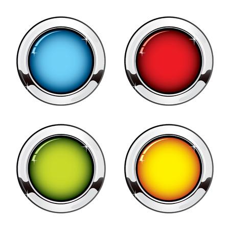 metallic button: Metallic button set
