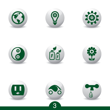 Ecology icons from series Vector