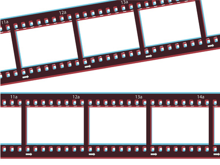 3d effect film strip Stock Vector - 6660725