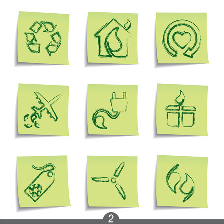 Ecology - post it icon series 2 Stock Vector - 6740890