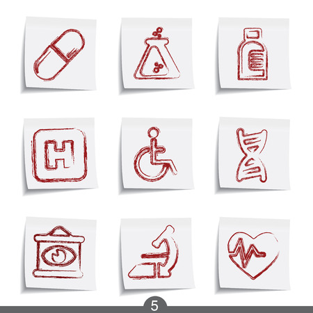 posts: Medical - post it icon series 5