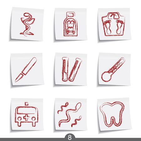 neurologist: Medical - post it icon series 8