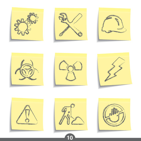Construction - post icon series 10 Vector Illustration