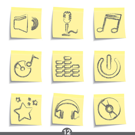 Music - post icon series 12 Stock Vector - 6736854