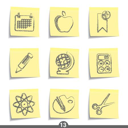 calendario escolar: Educaci�n - publicarlo icono serie 13 Vectores
