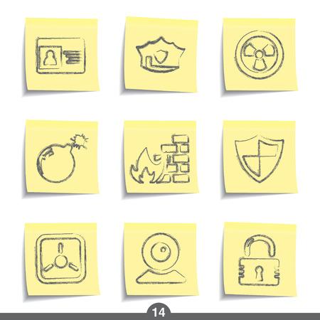 14: Seguridad - publicarlo icono serie 14 Vectores