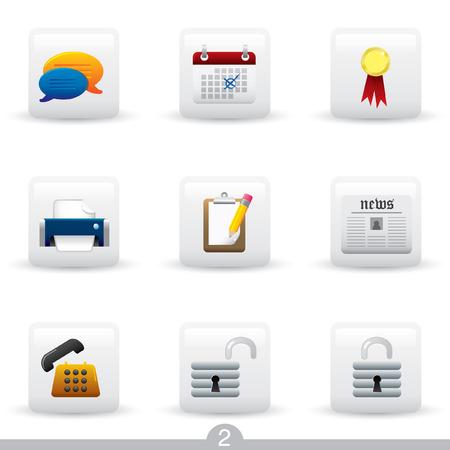 speech buble: Icon series 2 - web universal