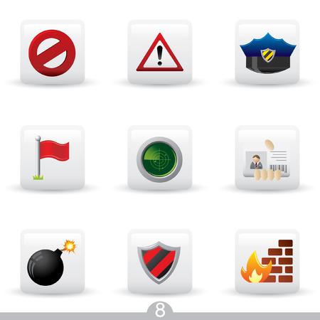 no pase: Icono de serie 8 - securtiy