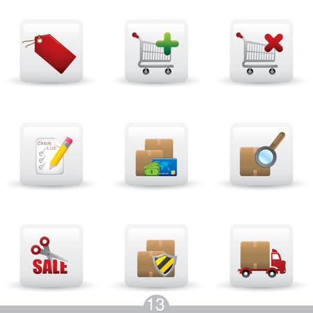 Icon series 13 - internet shopping Stock Vector - 6791990