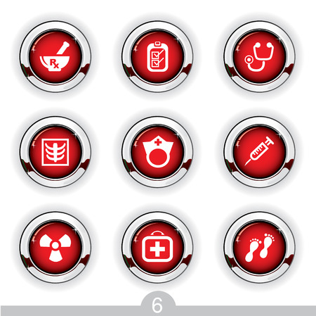 chiropody: Medical button series 6 Illustration