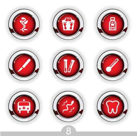 Medical button series 8 Stock Vector - 6792007