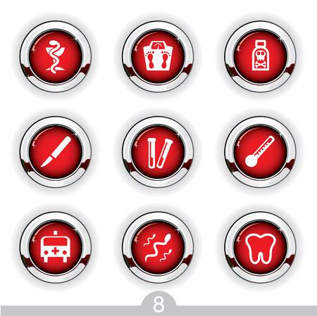 Medical button series 8 Stock Vector - 6792007