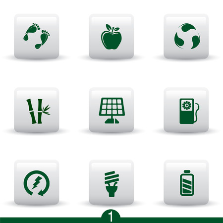 Ecology icon series 1 Vector