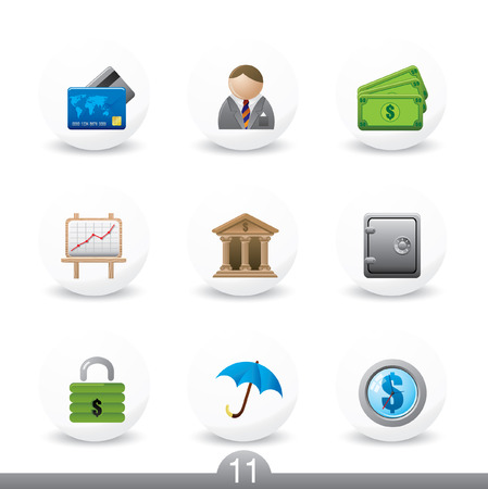 Finance icons...series no.11 Stock Vector - 7000980