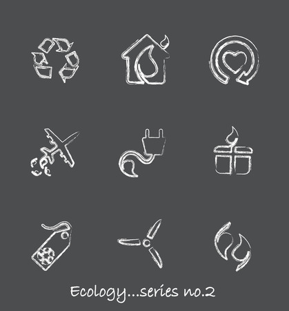 Ecology chalkboard icons...series no.2 Vector