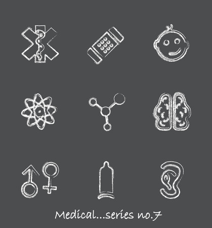 Medical chalkboard icons...series no.7 Stock Vector - 7001010