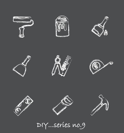 Diy chalkboard icons...series no.9 Stock Vector - 7000999